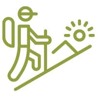 zöld túrázós logo